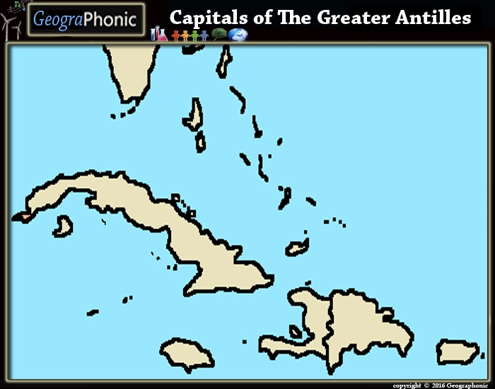 Capitals of The Greater Antilles