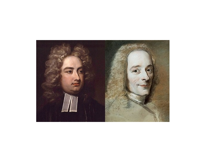 Voltaire vs Jonathan Swift