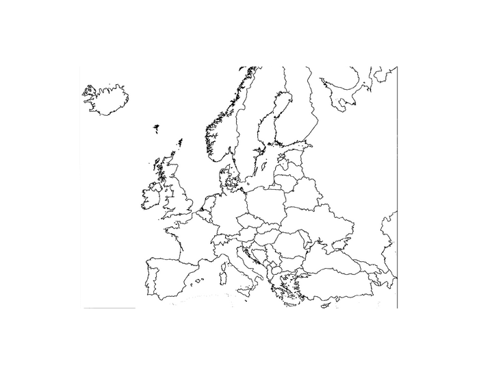Post Cold War Map of Europe   PurposeGames
