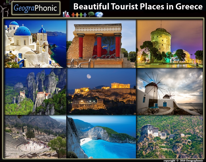 Game : Beautiful Tourist Places in Greece