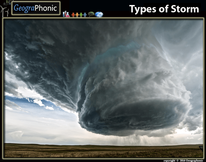 Types of storm
