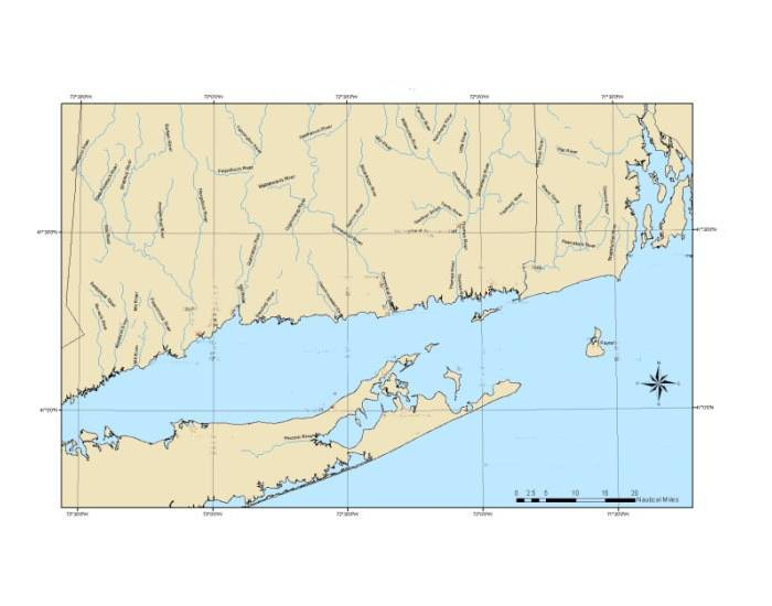 Hydrography of Long Island Sound & Vicinity