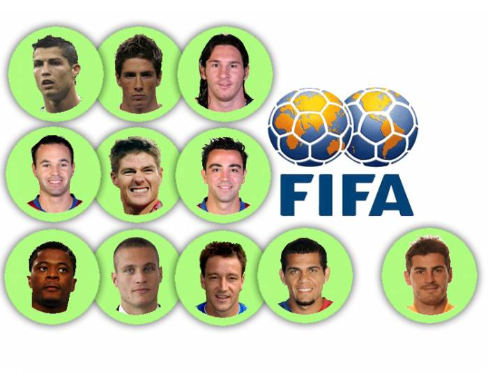 Football: Team of the year 2009 (FIFA selection)