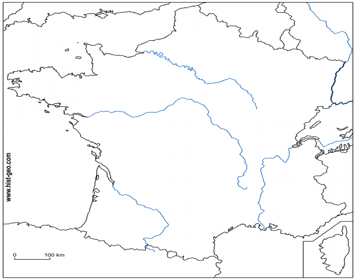 Mountains Of France Map.Rivers Cities And Mountains For French Map Quiz Purposegames