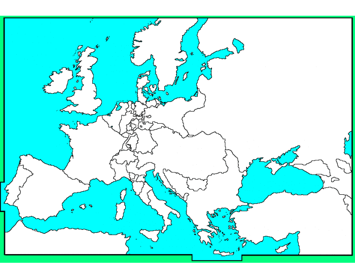 Europe in 1815 Map IDs - PurposeGames