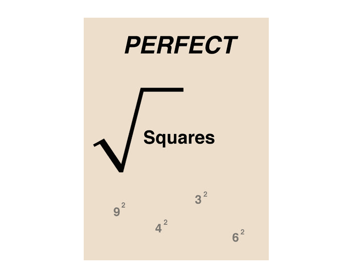 Perfect Squares to 25