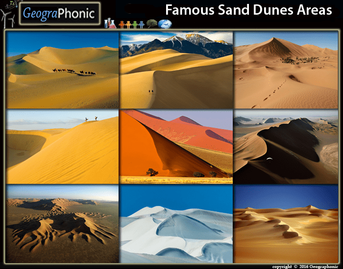 Famous Sand Dunes Areas
