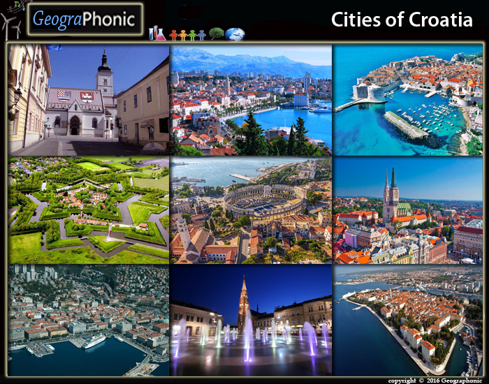 Cities of Croatia