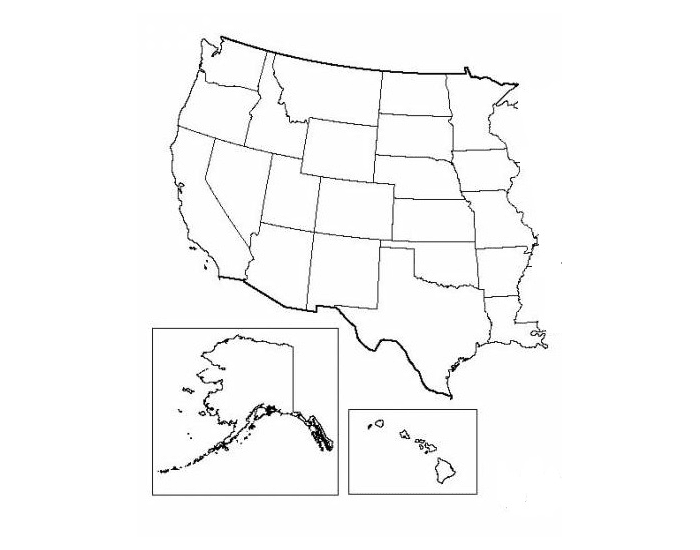 States west of the Mississippi