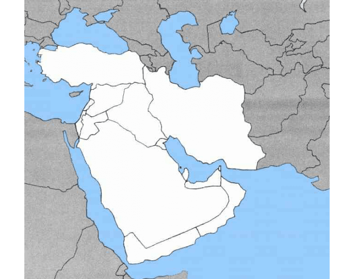 Middle East Practice Map - PurposeGames