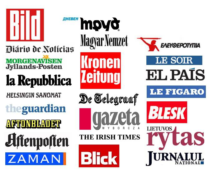 European newspapers (logos)