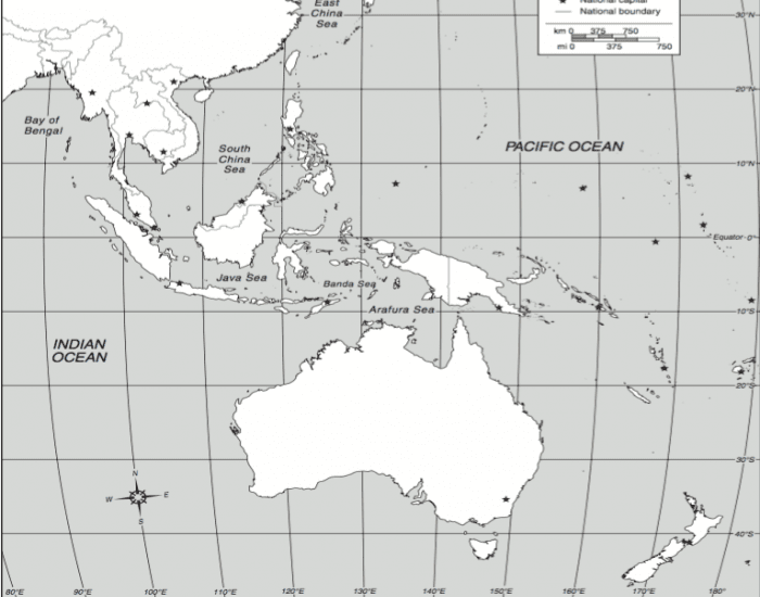 southeast asia and south pacific map Southeast Asia And The South Pacific southeast asia and south pacific map