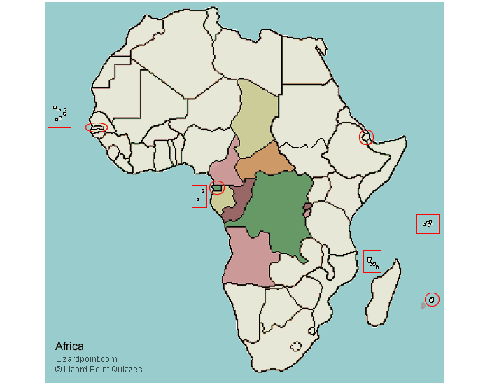 Capitals of Central Africa Block 3 Africa