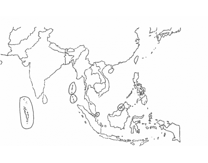 South/Southeast Asia Political Map