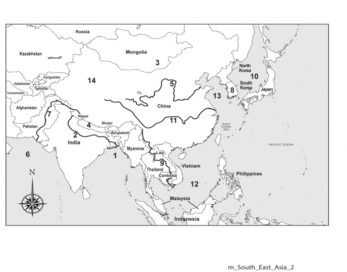 Physical Features of Southern and Eastern Asia