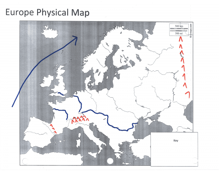 Physical Map Practice Europe