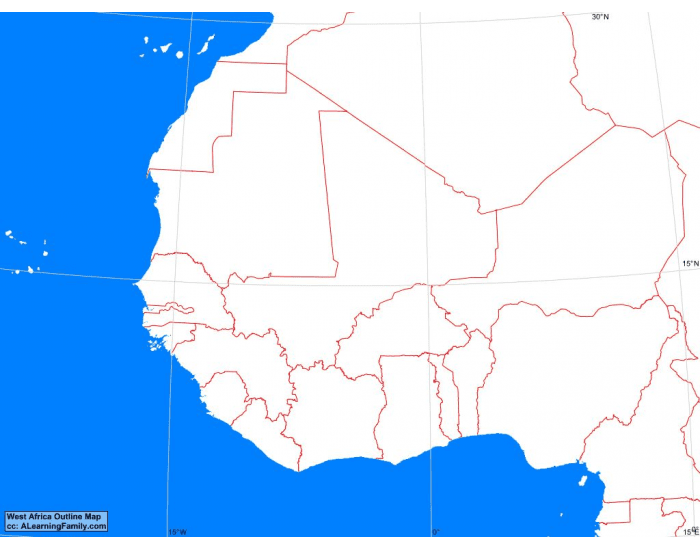 west africa map practice