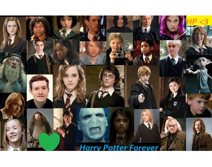 harry potter characters behind the name
