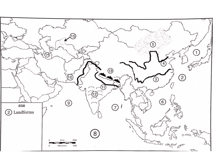 Asia Physical Features