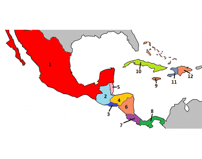Game Statistics Central America And Mexico Map Quiz Purposegames
