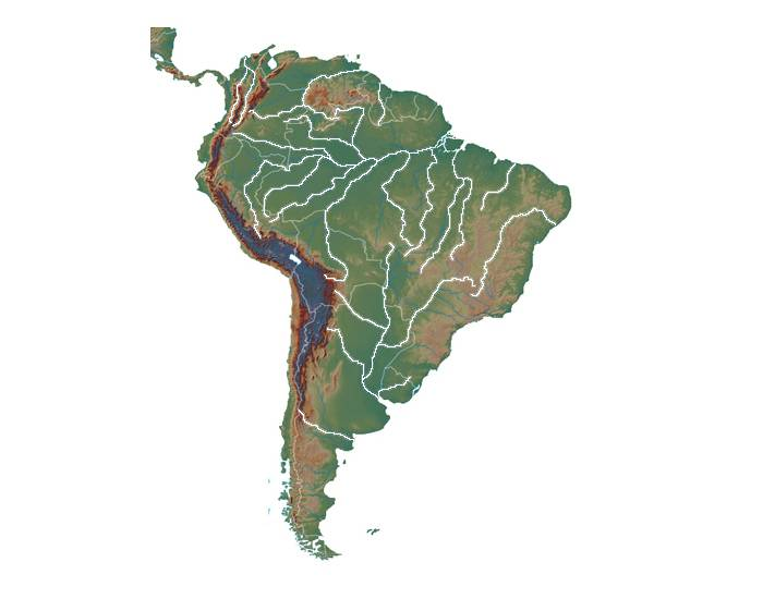 Rivers and Tributaries of South America