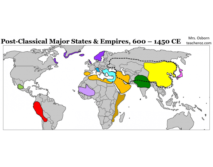Mrs. Oz's Period 3 APWH Map Test - EMPIRES