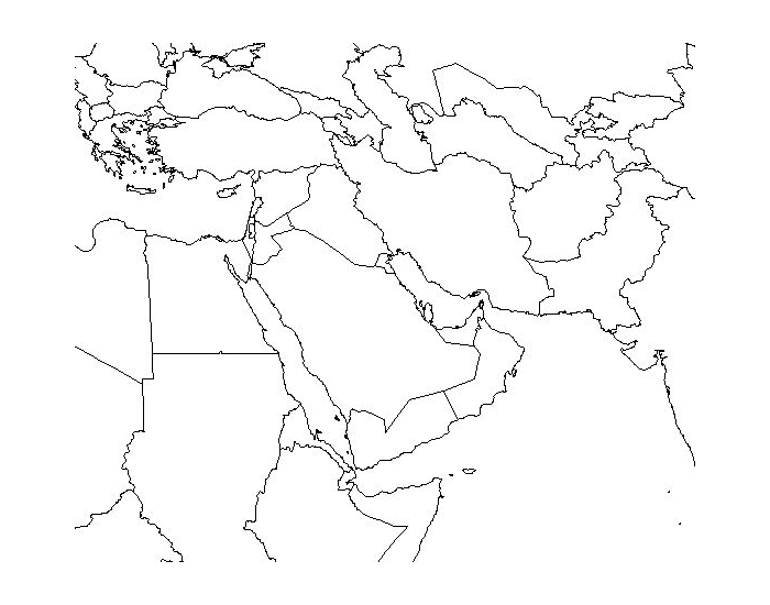 Middle East (Physical Map)