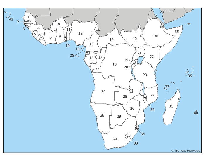 Sub-Saharan Africa Countries Quiz: - PurposeGames