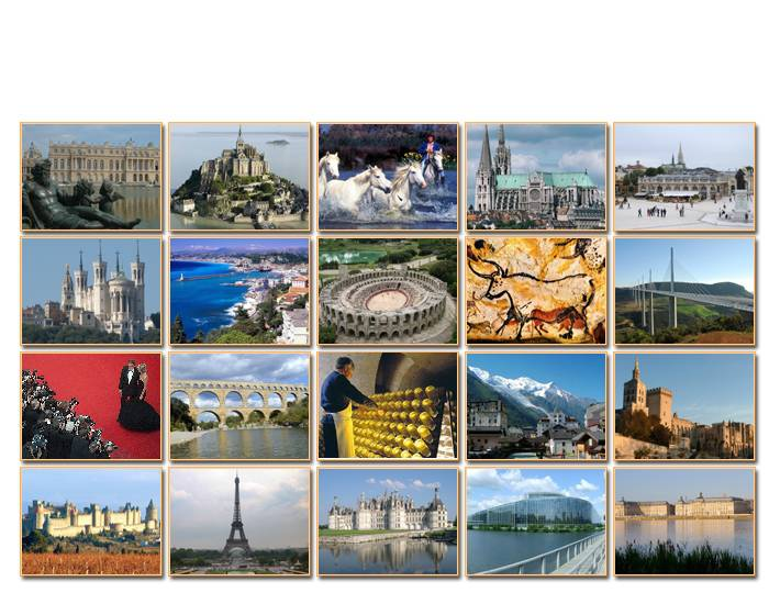 Sightseeing in France (20 tourist destinations)