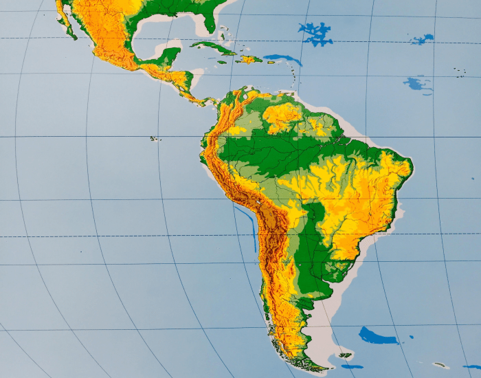 latin america physical features map quiz