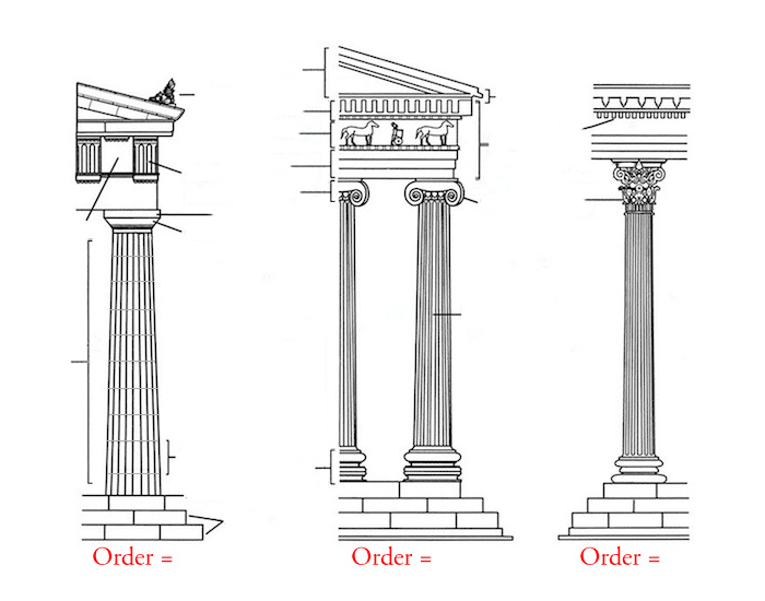 Greek Architectural Orders Vocabulary