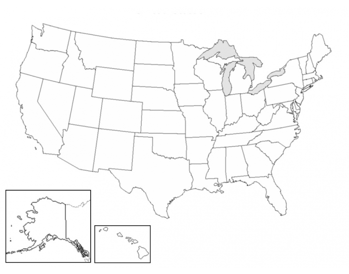 West/SW/MIdwest State Locations