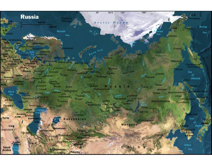Bodies of Water: Russia