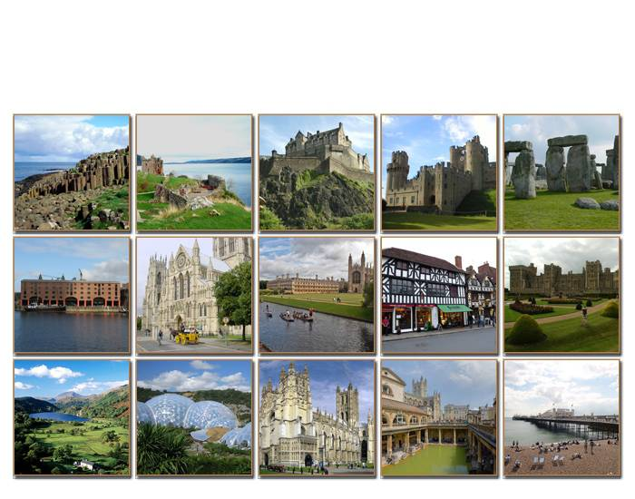 Sightseeing in the UK (15 tourist destinations)
