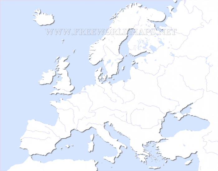 Map of Europe with countries and capitals 3750x2013 123 Mb Go to Map Physical map of Europe