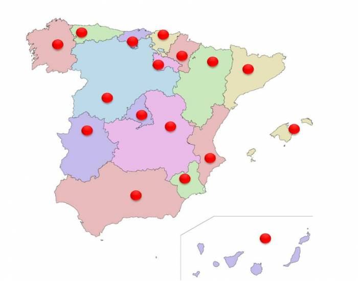 Spain, Regions and their Capitals
