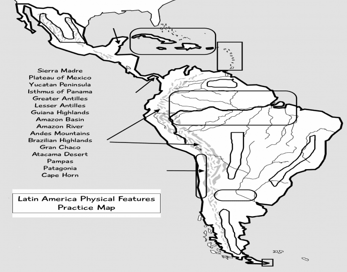 WMS Latin America Physical Map - PurposeGames
