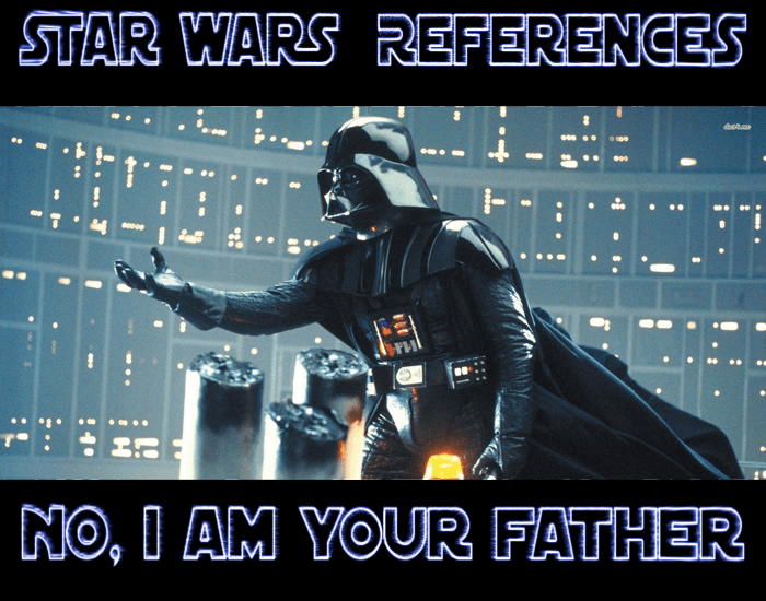 References from Star Wars to literature, history