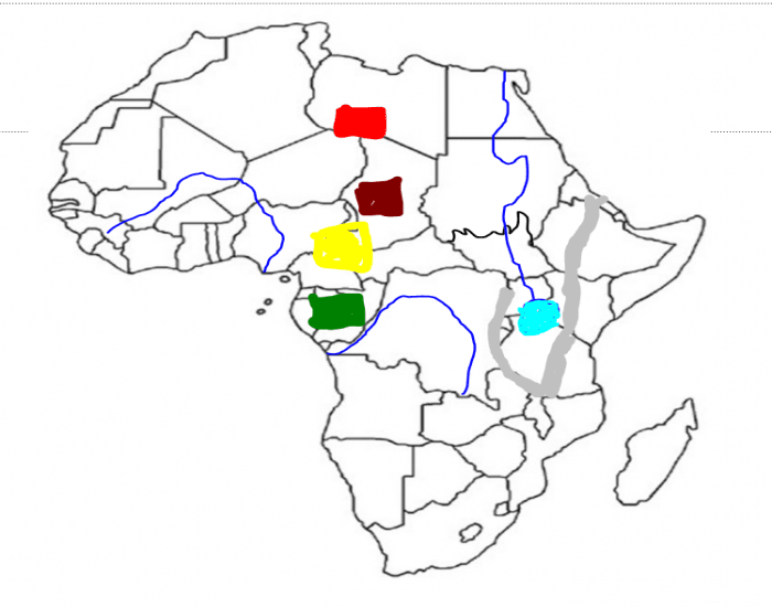 Africa (Physical Map)