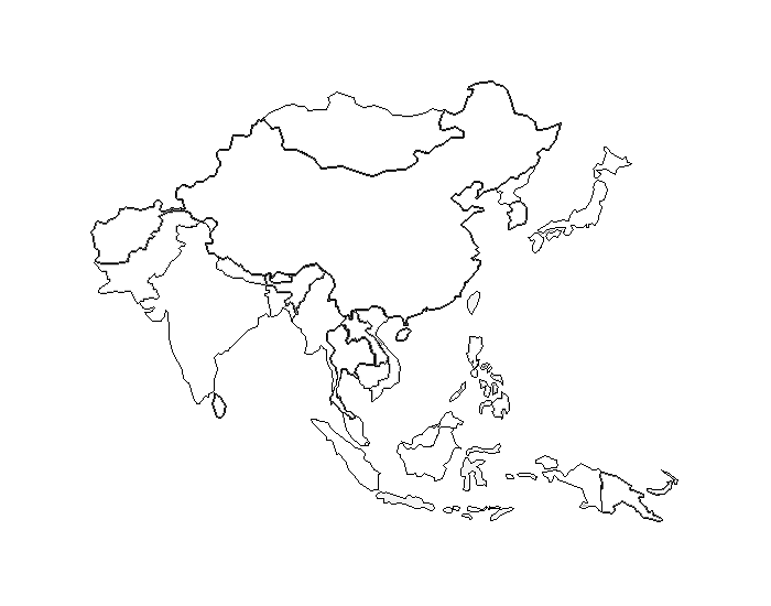 islands and landforms of east asia