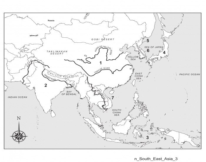 Polical South Eastern Asia Map