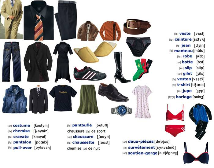 French Clothes Names
