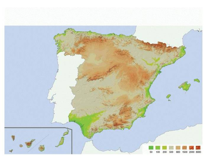 Map Of Spain Mountains.Main Mountain Ranges Of Spain Medium Purposegames