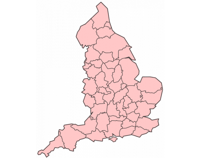 Fomer Counties of England
