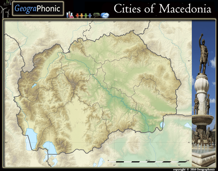 Cities of the Republic of North Macedonia