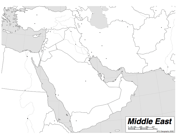Important Cities of the Middle East