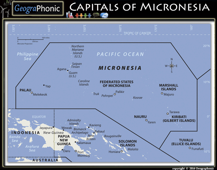 Capitals of Micronesia