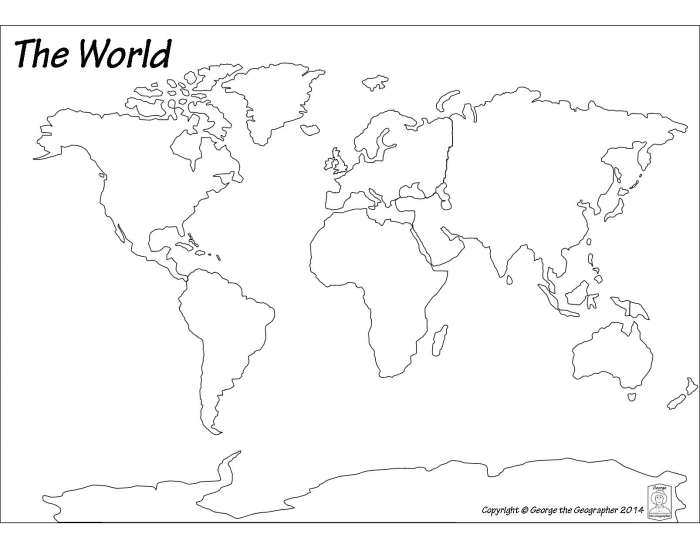 Continents, Oceans and Seas