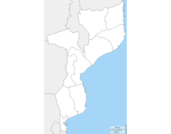 Mozambique: Provinces And Neighbours