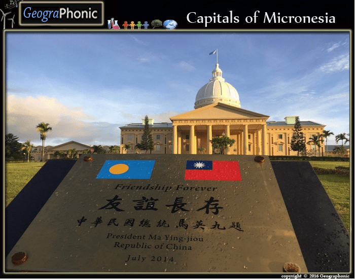 Capitals of Micronesia matching Game